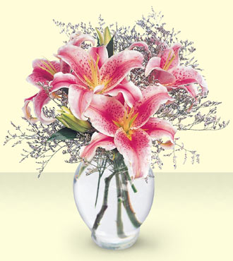 Pink Lily Bouquet